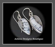 Load image into Gallery viewer, Dendritic Opal + Argentium Silver Hand Fabricated Earrings