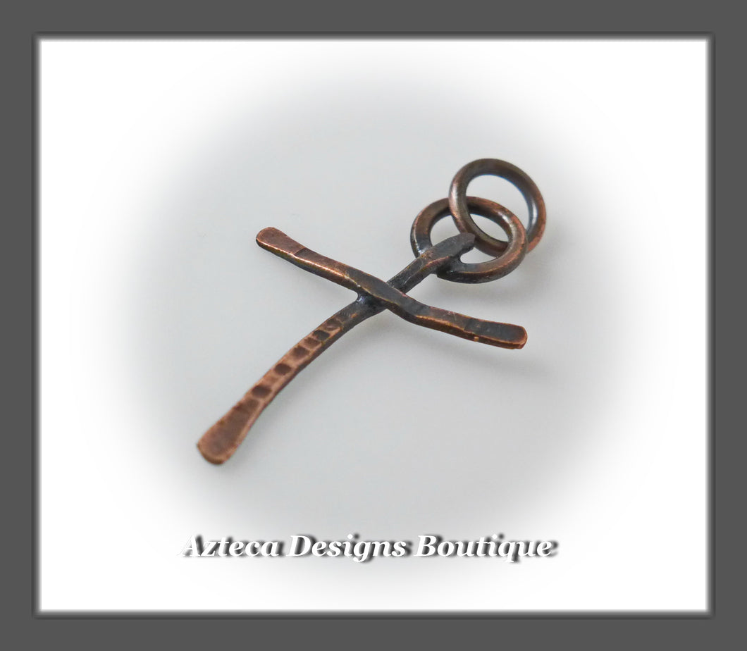 Copper+Rugged Cross Charm