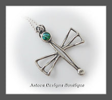 Load image into Gallery viewer, Cultured Opal + Sterling Silver + Hand Fabricated Dragonfly Necklace