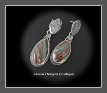 Load image into Gallery viewer, Peruvian Blue Opal+Drop Post Earrings