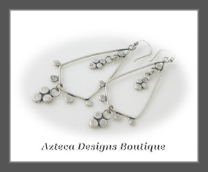 Lace+Hand Fabricated Argentium Silver+Earrings