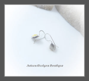 Butterscotch Baltic Amber+Argentium Silver+Minimalist Earrings