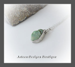 Damale Variscite+Sterling Silver+Hand Fabricated Pendant Necklace+Simply Her
