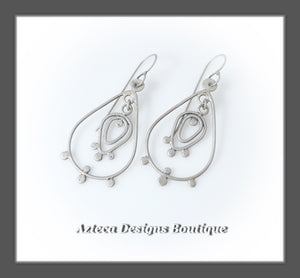 Lace Tulip+Hand Fabricated Argentium Silver+Earrings+Lace and Spice Collection