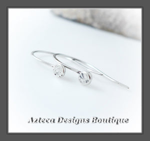 Dots+Argentium Silver+Minimalist+Hook Earrings+Simply Her