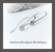 Load image into Gallery viewer, Dots+Argentium Silver+Minimalist+Hook Earrings+Simply Her