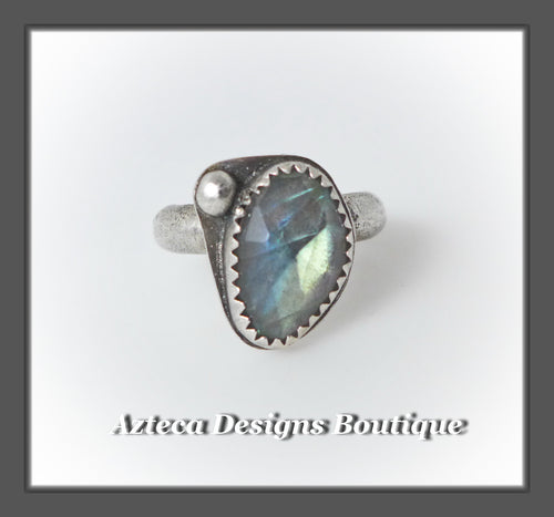 Labradorite+Sterling Silver Ring Size 6.5