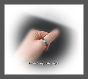 Sterling Silver Ring 9.5+Sleeping Beauty Natural Turquoise+Baltic Amber