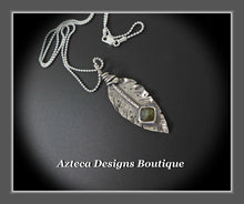 Load image into Gallery viewer, Her Wings+Labradorite+Hand Fabricated Rustic Sterling Silver Feather Necklace~