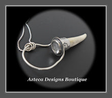 Load image into Gallery viewer, Wyoming Antler Point+Clear Quartz+Hand Fabricated Sterling Silver Necklace