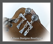 Load image into Gallery viewer, Desert Elements+Rutilated Quartz+Sterling Silver+Hand Fabricated Post Earrings