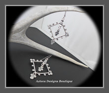 Load image into Gallery viewer, Exotic+Hand Fabricated Argentium Silver+Earrings