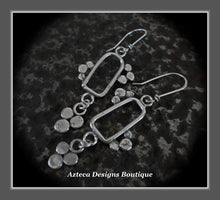 Load image into Gallery viewer, RESERVED FOR GRACE!!!!! Lace Blossom+Hand Fabricated Argentium Silver+Earrings