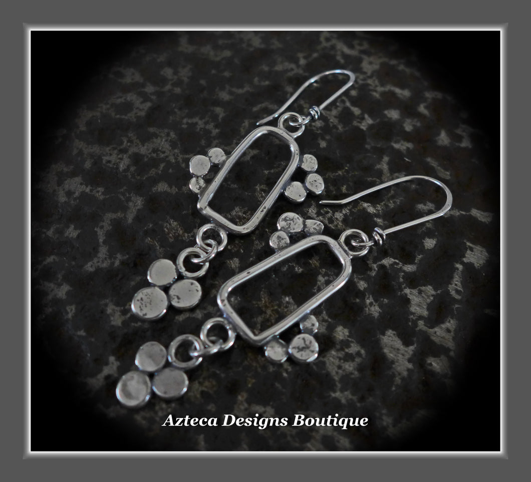 RESERVED FOR GRACE!!!!! Lace Blossom+Hand Fabricated Argentium Silver+Earrings