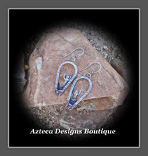 Load image into Gallery viewer, Saguaro Earrings+Hand Fabricated Argentium Silver+Copper