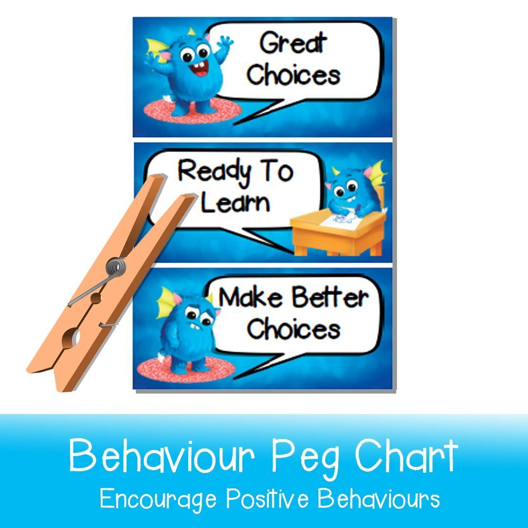Behaviour Peg Chart - Your Teacher's Pet Creature