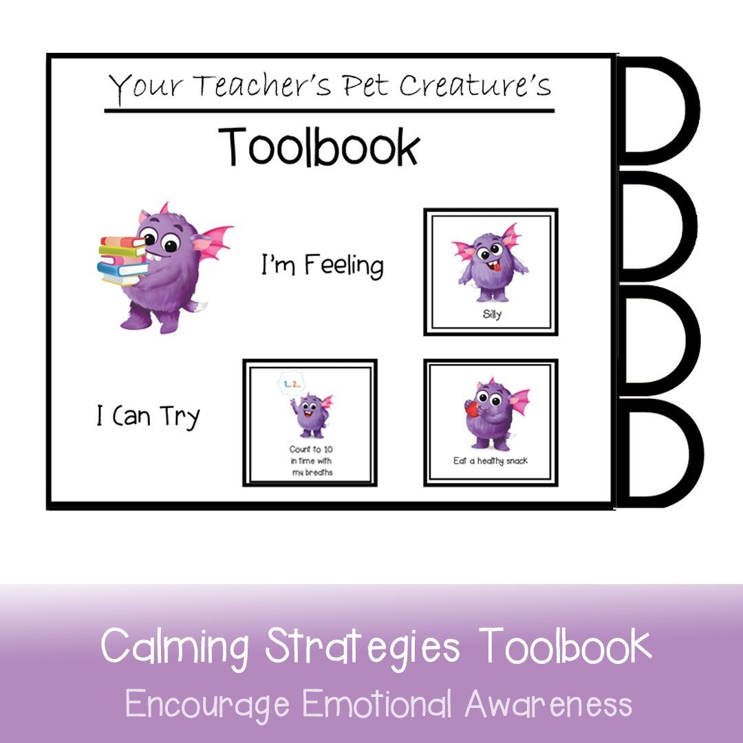 Calming Strategies Toolbook - Your Teacher's Pet Creature