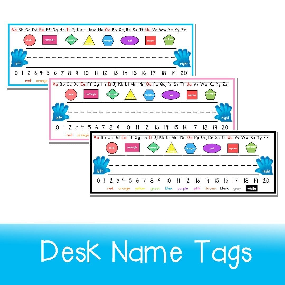 Desk Name Tags - Your Teacher's Pet Creature