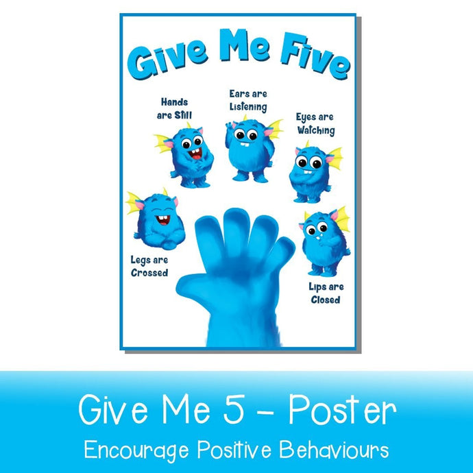 Give Me Five Poster - Your Teacher's Pet Creature