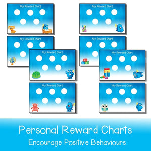 Personal Reward Charts - Your Teacher's Pet Creature