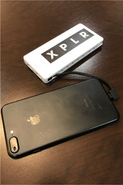 XPLR POWER BANK - IPHONE/ANDROID CORDS BUILT IN!