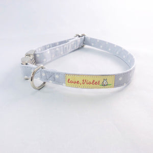 """Gray Polka Dot"" Collar"