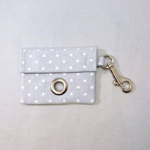 """Gray Polka Dot"" Poop Bag Holder"