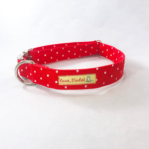 """Red Polka Dot"" Collar"