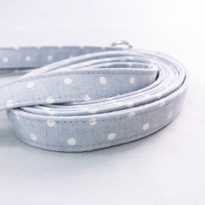 """Gray Polka Dot"" Leash"