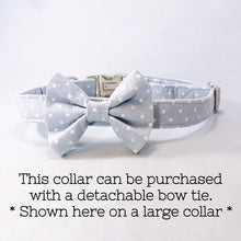 """Gray Polka Dot"" Bow Tie"