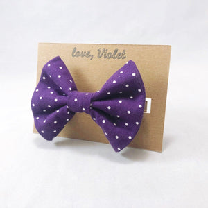 """Purple Polka Dot"" Bow Tie"