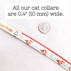 """Navy Polka Dot"" Cat Collar"