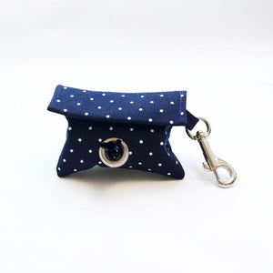 """Navy Polka Dot"" Poop Bag Holder"