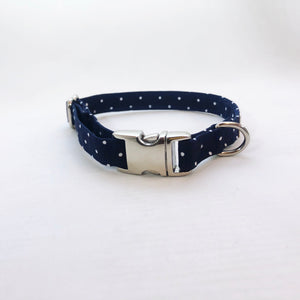 """Navy Polka Dot"" Collar"