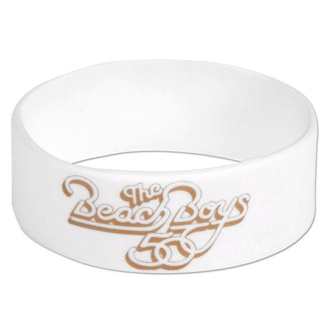 Beach Boys' White Rubber Bracelet