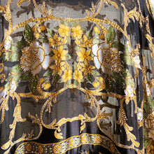 Load image into Gallery viewer, Just let the Lovin' take Ahold (Black Baroque Silk Burnout)