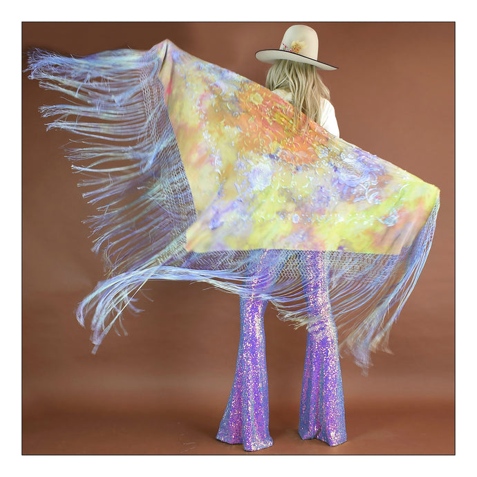 You see your Gypsy  (Lime/Lavendar/Orange/Blue Tie-Dye)