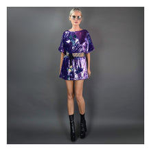Load image into Gallery viewer, Lucy in the Sky with Diamonds (Purple/Turquoise)
