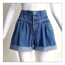 Load image into Gallery viewer, Blue Jean Baby (Gathered Pleats)