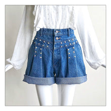 Load image into Gallery viewer, Blue Jean Baby (double pleat)