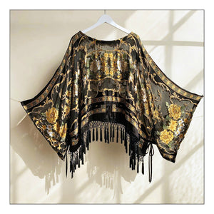 Just let the Lovin' take Ahold (Black Baroque Silk Burnout)