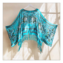 Load image into Gallery viewer, Just let the Lovin' take Ahold (Turquoise Baroque Silk Burnout)