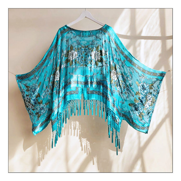 Just let the Lovin' take Ahold (Turquoise Baroque Silk Burnout)