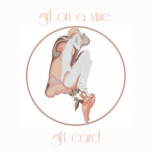 Girl On A Vine Gift Card