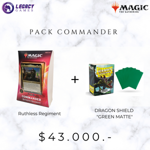 "Pack COMMANDER - Ruthless Regiment + DRAGON SHIELD ""GREEN MATTE"""
