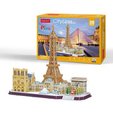 Paris City Line - Puzzle 3D