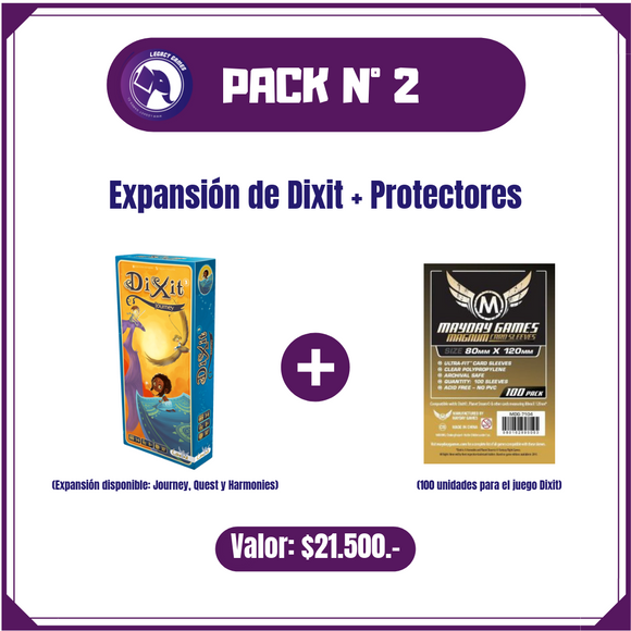 Pack N° 2 - Expansión Dixit + Protectores