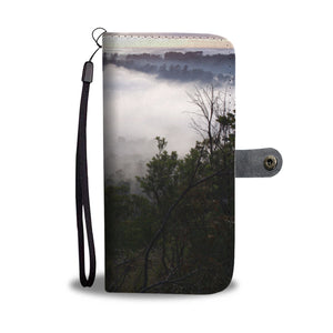 Phone Wallet - Blue Lake Fog