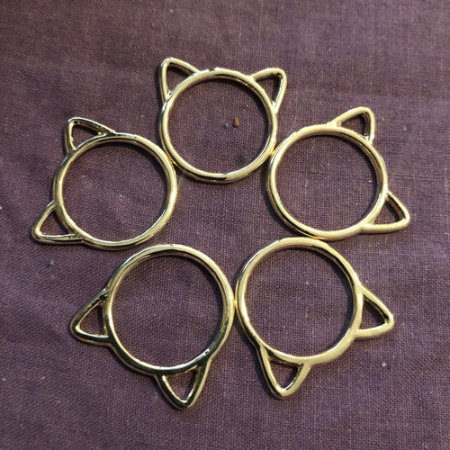 Stitch Markers - Cat Circle Set Gold