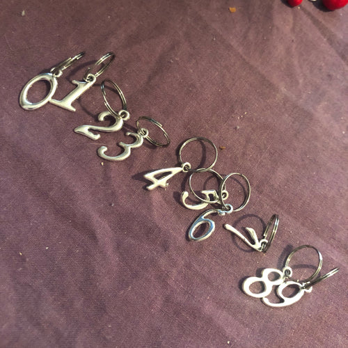 Stitch Markers - Number Set Silver